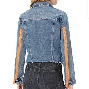 NWOT Blank NYC Exposed Zipper Sleeve Denim Jacket